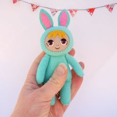 rag doll in bunny costume by Lybo on Etsy