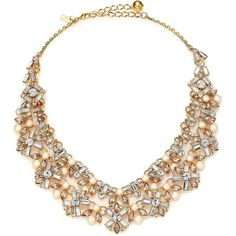 Kate Spade New York Cocktails & Conversation Faux Pearl Statement... ($345) ❤ liked on Polyvore featuring jewelry, necklaces, accessories, colares, jewels, apparel & accessories, goldtone, holiday jewelry, jewel necklace and kate spade necklace
