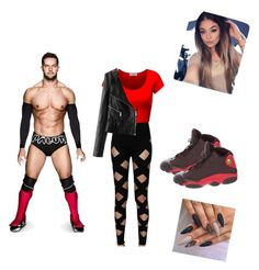 """Finn Balor"" by xoxohugsxoxo ❤ liked on Polyvore featuring Balmain and NIKE"