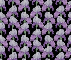 Iris fabric by valeri_nick on Spoonflower - custom fabric