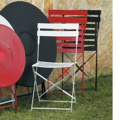 Bistro Chairs. Another option for the backyard dining