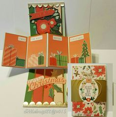 Twist and pop card using My Minds Eye Christmas on Market Street paper…