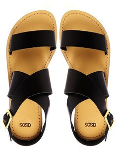 FOSTER Leather Flat Sandals YESSSSSS! want these