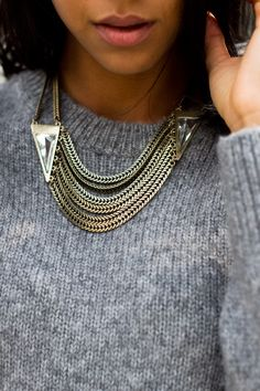 some jewelry to brighten up an outfit.