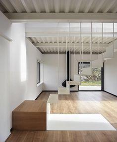 Treppen, Bodentreppe, Schmales Haus, Moderne Treppen, Moderne Fertighäuser,  Modernes Leben,
