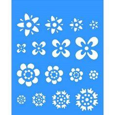 Stencil Flores Diversas 20x25 - OPA