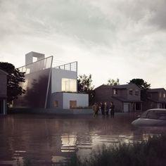 Mi-maison écologique, mi- bateau, une proposition verte de maison passive