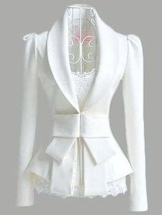 Fold Over Collar Bow Plain Blazer Wholesale Clothing Online Store. We Offer Top Good Quality Cheap Clothes For Women And Men Clothing Wholesaler, Get Affordable Clothing At Worldwide. Blazer Outfits, Blazer Fashion, Casual Outfits, Fashion Outfits, Blazer Dress, Casual Blazer, Long Blazer, Dress Outfits, Blazer Jacket