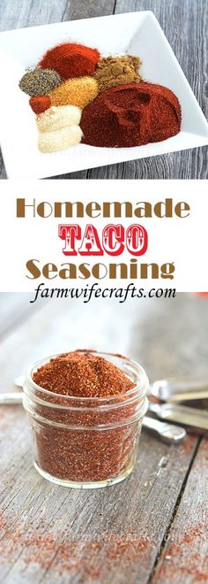 This homemade taco seasoning is a great way to always have the most important ingredient on hand at all times. This homemade taco seasoning is a great way to always have the most important ingredient on hand at all times. Make Taco Seasoning, Taco Seasoning Packet, Seasoning Mixes, Homemade Spices, Homemade Seasonings, Mexican Dishes, Mexican Food Recipes, Good Food, Yummy Food