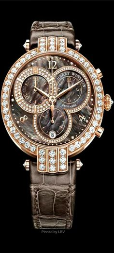 Harry Winston 2014 Pre-Baselworld novelty, The Premier Chronograph Watch♥✤ Amazing Watches, Beautiful Watches, Modern Jewelry, Unique Jewelry, Fine Watches, Men's Watches, Harry Winston, Luxury Watches, Dream Watches