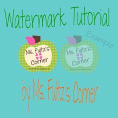 Watermark Tutorial