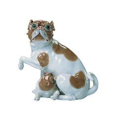 Dresden Porcelain Dog Porcelain figurines were originally used to demonstrate the wealth, prestige and influence of the host! They provided . Dresden China, Dresden Porcelain, China Patterns, Collectible Figurines, Wealth, Dinosaur Stuffed Animal, Bb, Museum, Pottery