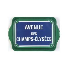 "Tray - ""Avenue Des Champs-Elysees"" - (Tin) 8 1/4"" x 5 1/2"""