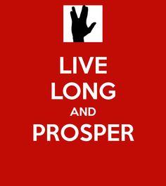 Live long and prosper birthday greetings pinterest m4hsunfo