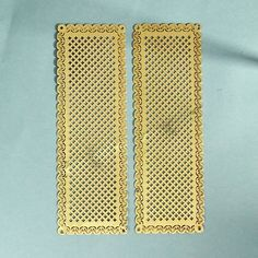A nice pair of decorative pierced brass fingerplates. In excellent condition with engraved borders. £25.00