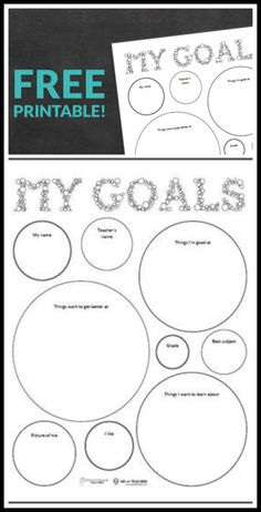 Perfect way to teach kids goal setting.  FREE printable!