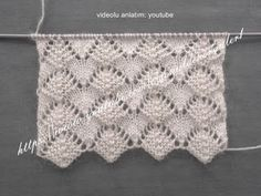 This Pin was discovered by Hül Lace Knitting Stitches, Diy Crochet And Knitting, Crochet Stitches Patterns, Knitting Designs, Knitting Projects, Baby Knitting, Stitch Patterns, Knitting Patterns, Rainbow Crochet