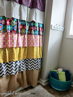 Easy DIY Shower Curtain Ideas