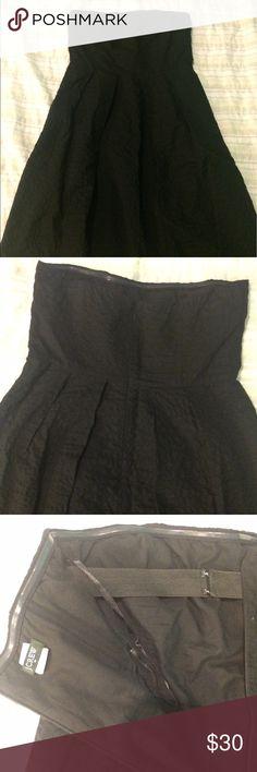 Black J. Crew cocktail dress Simple and elegant black cocktail dress. A staple for any closet. J. Crew Dresses Strapless