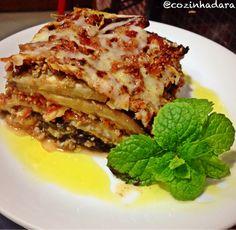 Lasanha Fit de Beringela Low Carb, Ethnic Recipes, Image, Foods, Eggplant Lasagna, Eggplants, Recipes With Vegetables, Vegan Recipes, Greens Recipe