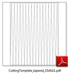 """Image of 1/2"""" x 11"""" tapered Triangle Cutting Template"""