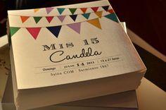 Banderines para una fiesta divertida | Tarjetas de 15 Ideas Para Fiestas, Birthday Party Decorations, Creative Crafts, Sweet 16, Projects To Try, Salons, Baby Shower, Invitations, Lettering