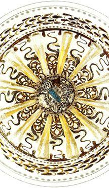 Particolare di piatto con stemma Barbarigo e corno ducale (1500 circa), Museo del Vetro, Fondazione Musei Civici, Venezia