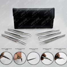 Eyelash Extension Six Tweezers Kit (All In One)