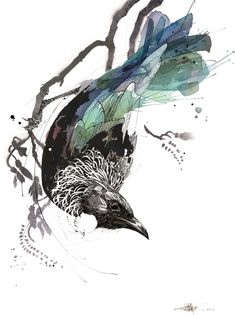 Official Rachel Walker Page. New Zealand watercolour, spray paint, pen and ink artist creating splashy celebrations of native and rare animals.