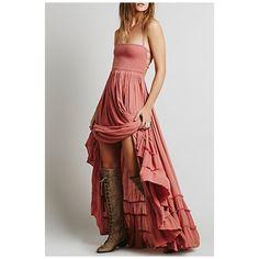 Sexy Chic Halter Bandage Back Ruffle Hem Plain Maxi Dress (57 AUD) ❤ liked on Polyvore featuring dresses, red halter top, cotton dresses, halter maxi dress, red cotton dress and sexy dresses