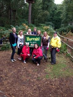The Green Umbrella Team spent the day at Go Ape at Woburn Safari Park today. What an amazing time!