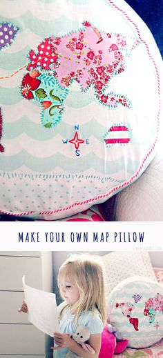 Make your own Map Pillow with @joannstores