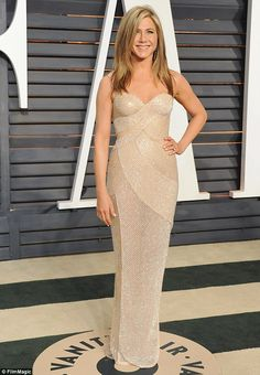 No fad diets here! Jennifer Aniston shared snaps of her carb-filled meals while recently taking over the Living Proof Instagram account - pictured ehre at the 2015 Vanity Fair Oscar Party in February
