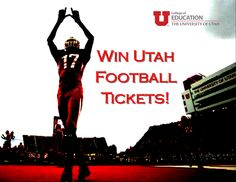 Want to win football tickets to the Utah vs. Colorado game??  We're having a photo contest! All you have to do is take a photo of our new Beverley Taylor Sorenson Arts & Education Complex on Instagram. Hash tag #uofueducation and you will automatically be entered to win!  We will announce the winner on Monday, November 25th.