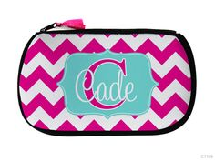 Items similar to Chevron Cosmetic Bags or Neoprene Makeup Clutch Shown in Chevron  Personalized on Etsy 480d83b734808