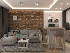 Getting Bored With Your Home? Use These Interior Planning Ideas – Lastest Home Design Small Apartment Interior, Small Apartment Design, Apartment Layout, Small Apartments, Apartment Living, Home Interior Design, Home Living Room, Living Room Designs, Living Room Decor