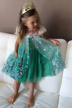 Beautiful Frozen Fever Inspired Dress Cape by PetiteLisaDesign Elsa Outfit, Elsa Dress, Dress Up, Frozen Birthday Party, Frozen Party, Summer Birthday, 4th Birthday, Frozen Dress, Elsa Frozen