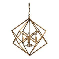 Vista Geometric Chandelier Ceiling Light Antique Gold - Thy-Hom : Target