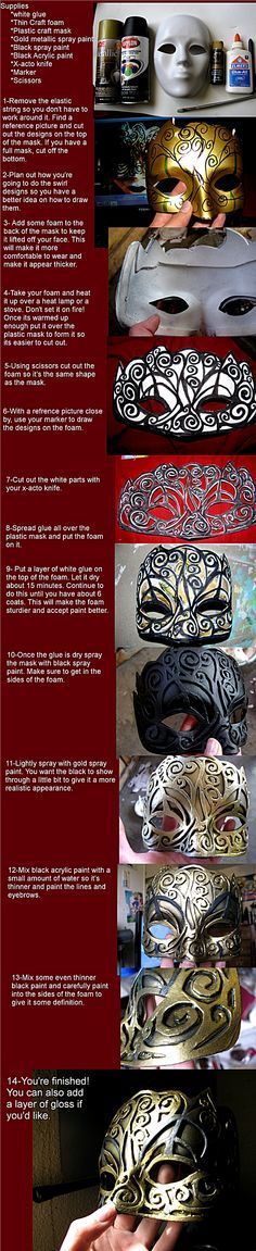 ACB: Hellequin Mask Tutorial by *jugsyjinx. I would LOVE to go to a masquerade ball. Larp, Fun Crafts, Arts And Crafts, Diy Masque, Costume Tutorial, Masquerade Party, Masquerade Masks, Cosplay Diy, Maquillage Halloween