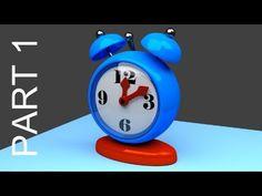 Blender Tutorial For Beginners: Alarm Clock - 1 of 2 - YouTube
