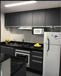 Cozinha apartamento pequeno ( preta)