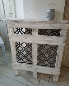 Another pallet project today. Decor, Hallway Decorating, Heater Cover Diy, Wood Pallets, Home Decor, Cover Rustic, Pallet Furniture, Diy Radiator Cover, Interior Design