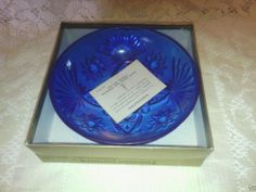 Anchor Hocking EAPC cobalt candy dish. Want, want, want! I saw this on ebay once, and only once. It went for $364!