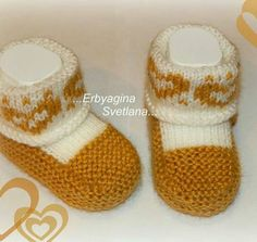 Knit Baby Dress, Knit Baby Booties, Booties Crochet, Crochet Baby Shoes, Baby Boots, Knitted Baby, Free Baby Patterns, Baby Knitting Patterns, Baby Slippers