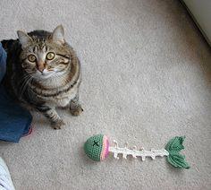 Crocheted Fish Bones  Amigurumi by feathercrochet on Etsy, $10.00