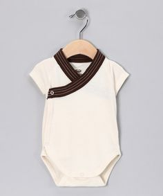 Natural Wrap Me Onesie by WoBabyBasics on #zulily