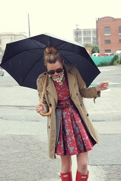 rainy day outfit... If only Halifax wasn't windy