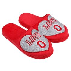 Ohio State Buckeyes Women's Love Glitter Slide Slippers