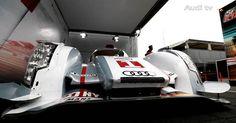 Audi TV: The new Audi R18 e-tron quattro arrived at Le Mans