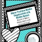 These black and white polka dot binder inserts will help you organize all of your paperwork in no time! This product allows you the option of creat...